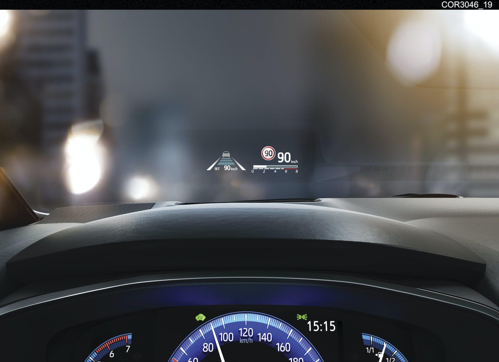 Toyota Corolla head up display