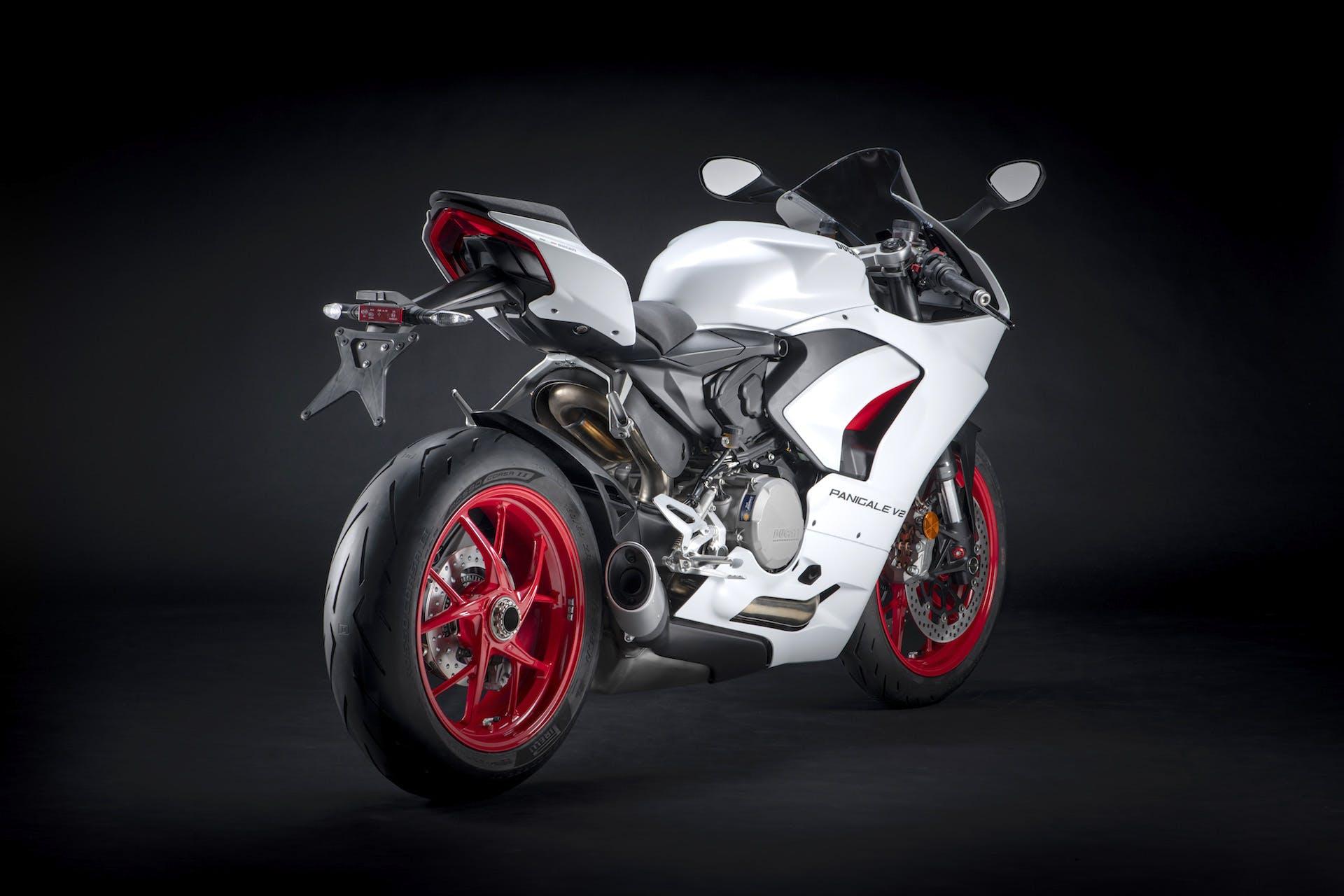 Ducati Panigale livrea White Rosso_ statica