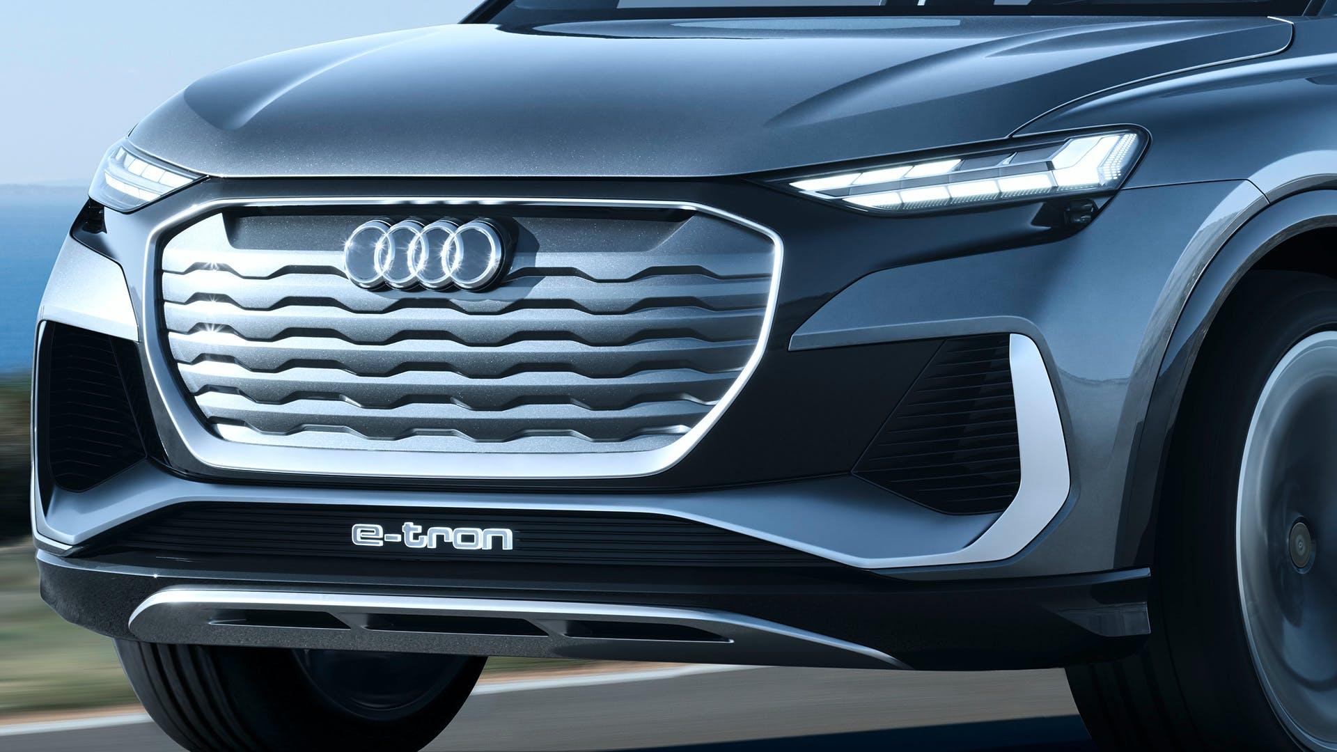 Audi Q4 Sportback e-tron concept dettaglio frontale