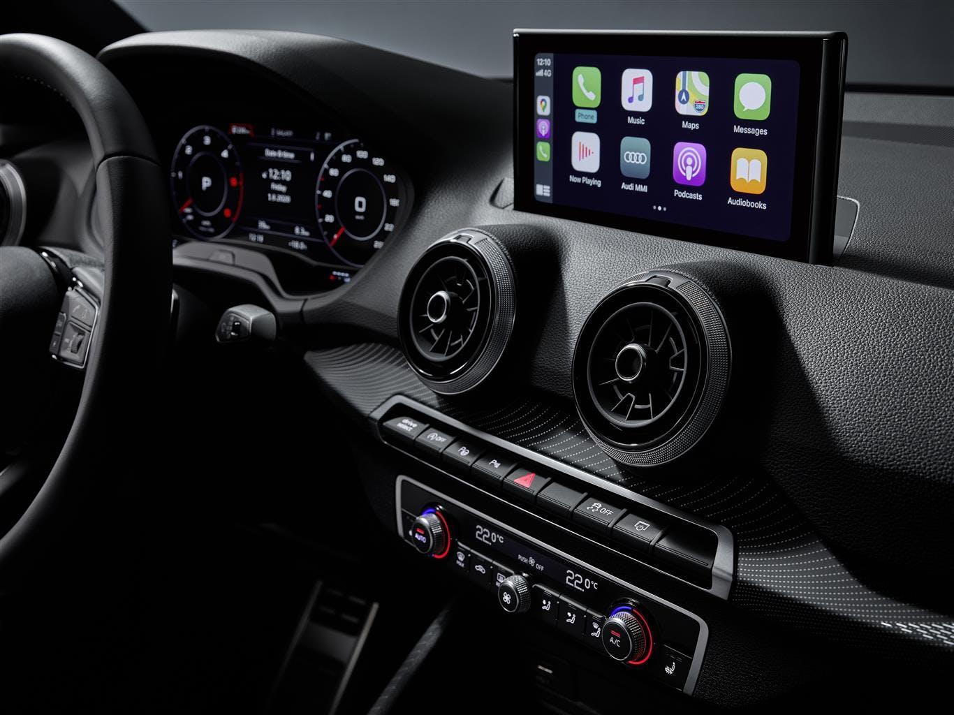Audi Q2 restyling schermo infotainment
