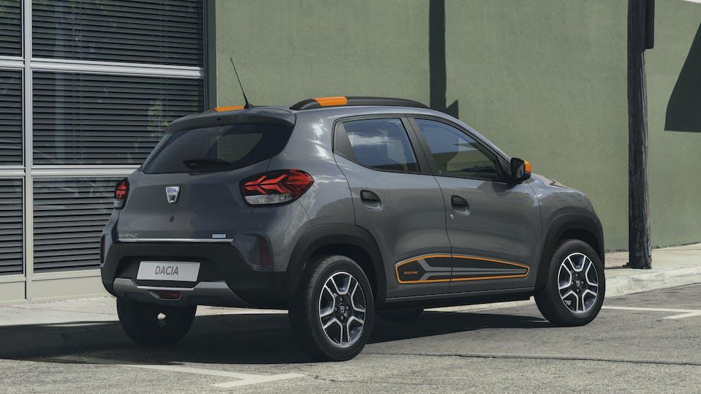 Dacia SPRING vista posteriore