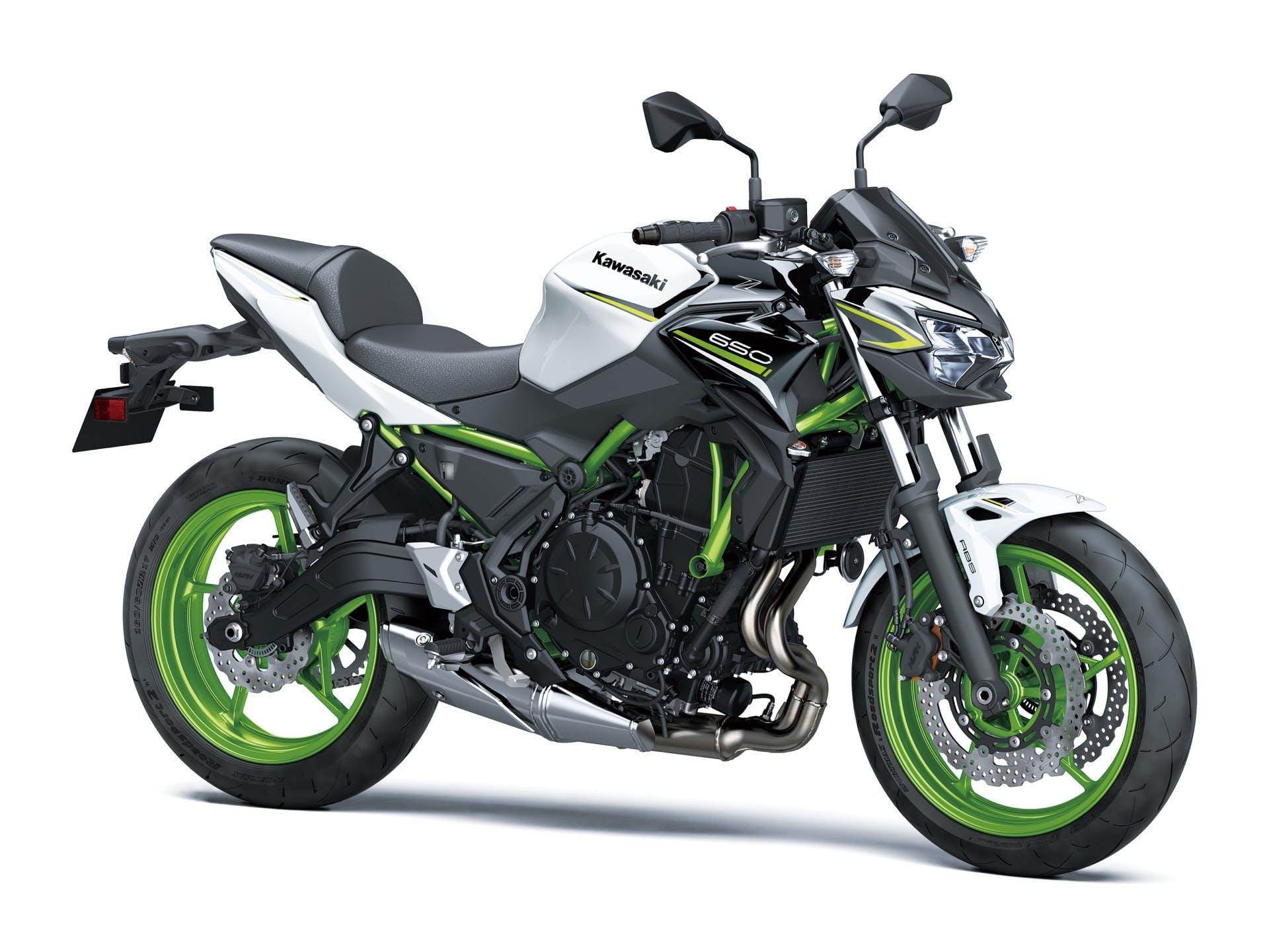Kawasaki Z650 2021 bianca studio