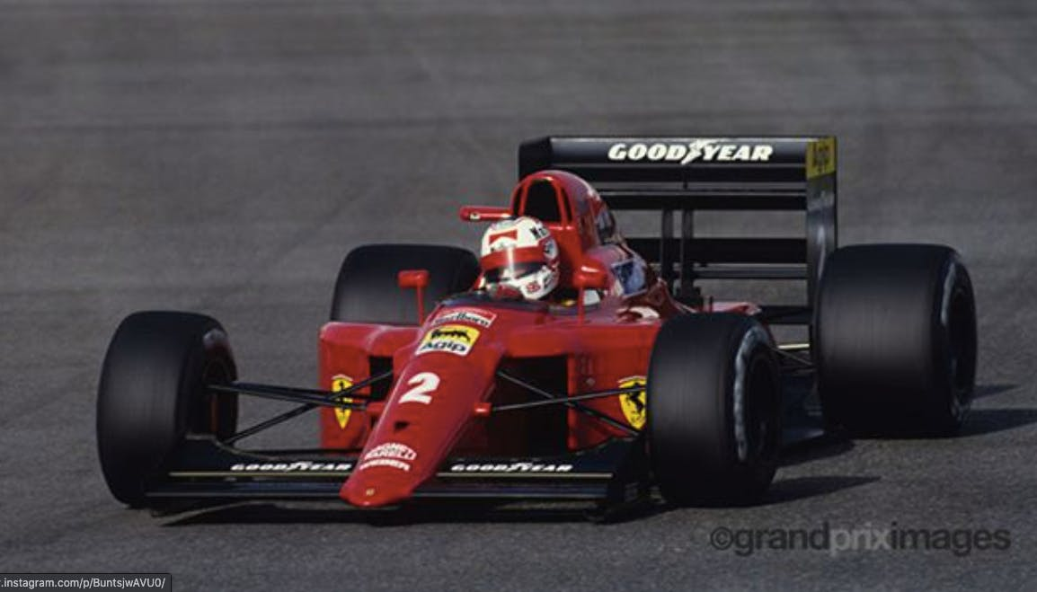 Mansell Ferrari pole position silverstone 1990