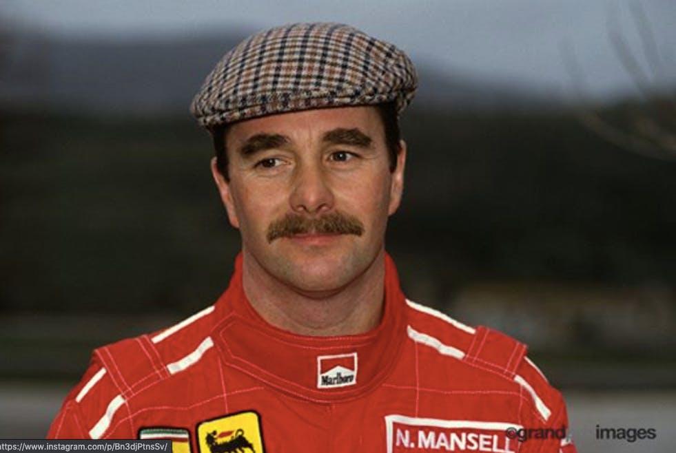 Nigel Mansell tuta Ferrari