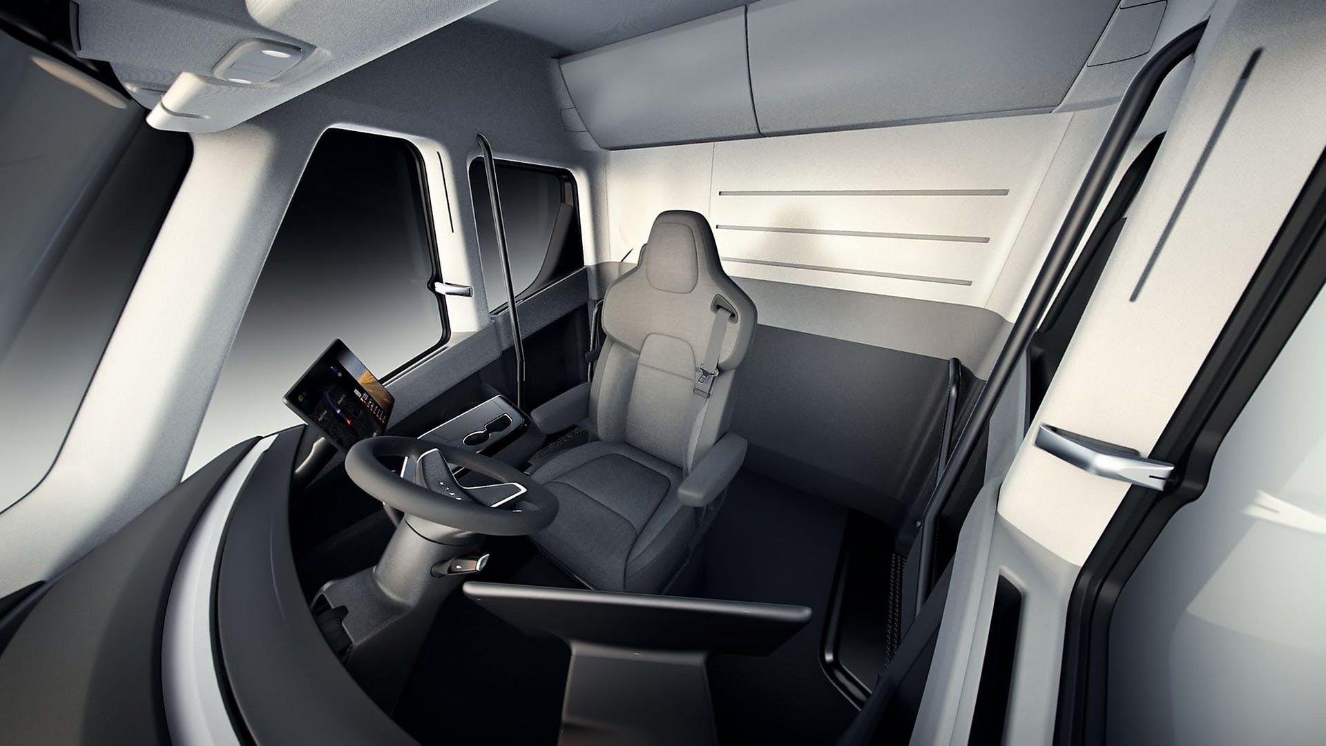 Tesla Semi Truck interni
