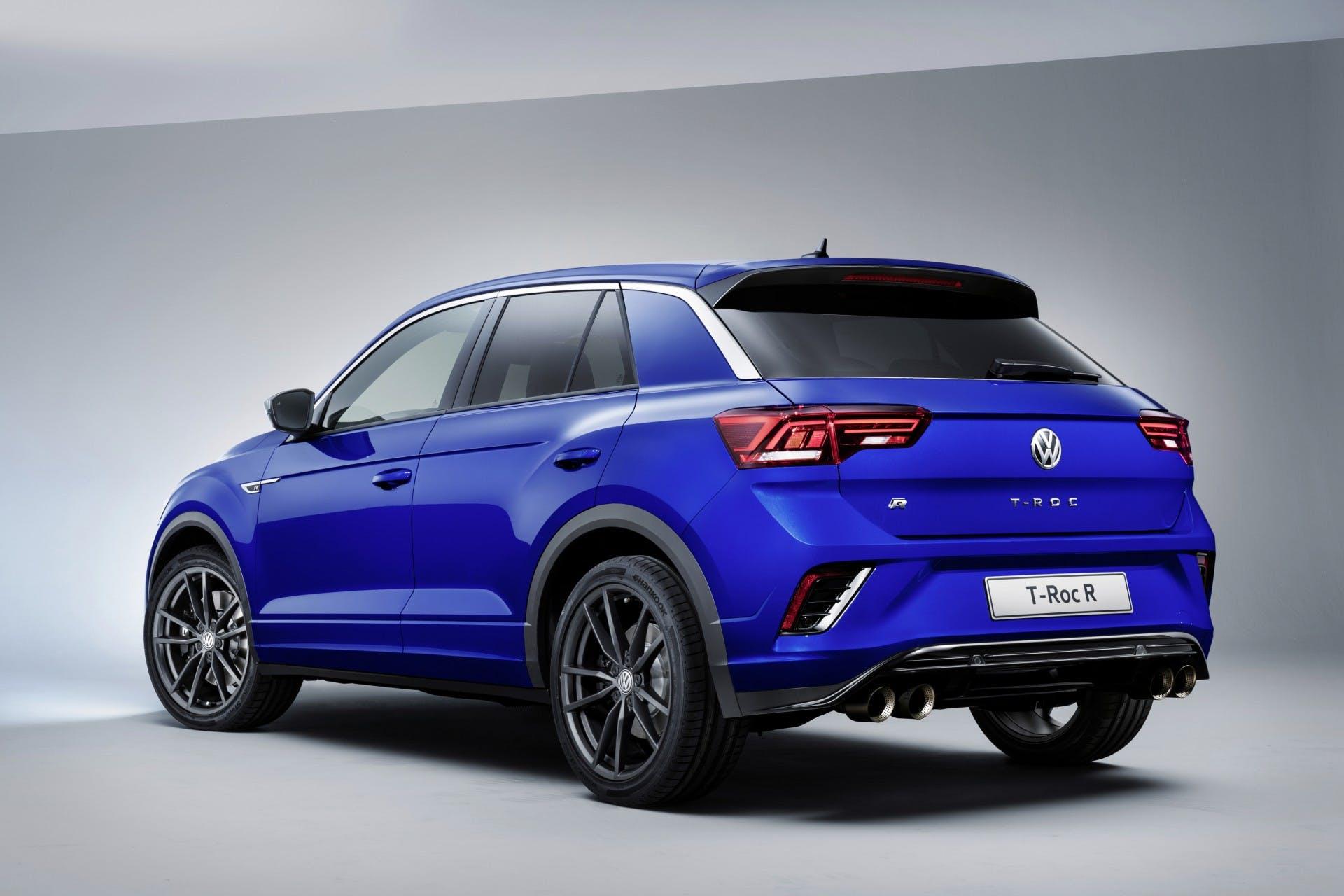 Volkswagen T-Roc R vista tre quarti posteriore