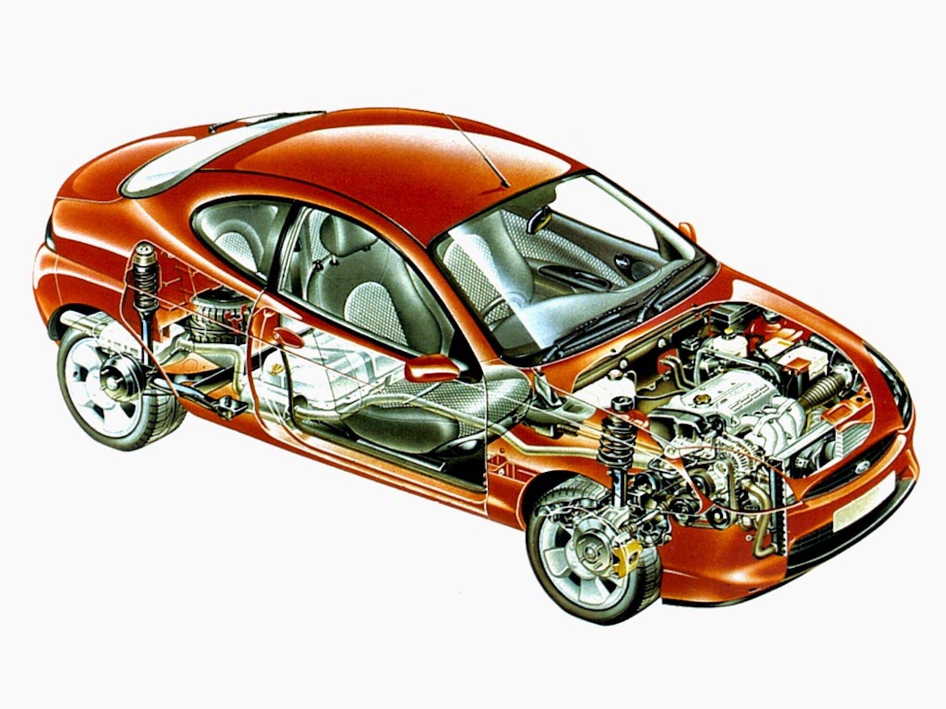 ford puma disegno tecnico