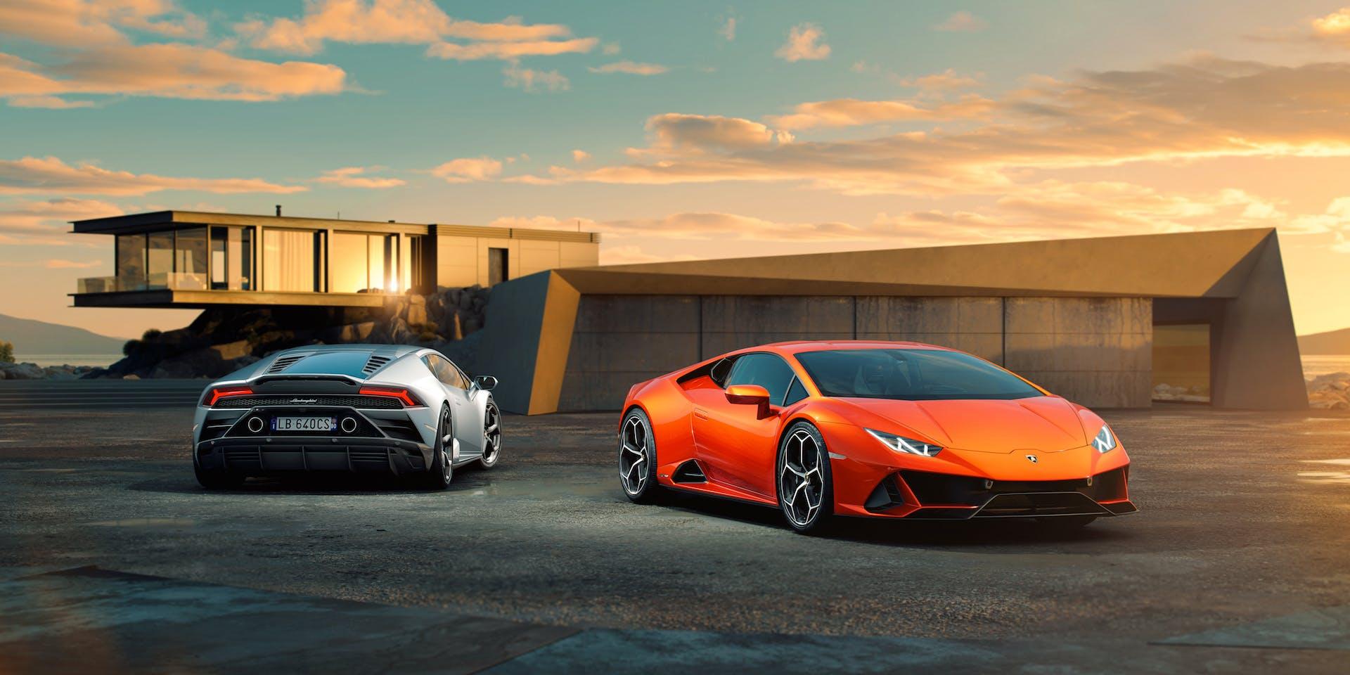 Lamborghini Huracan EVO rossa e grigia