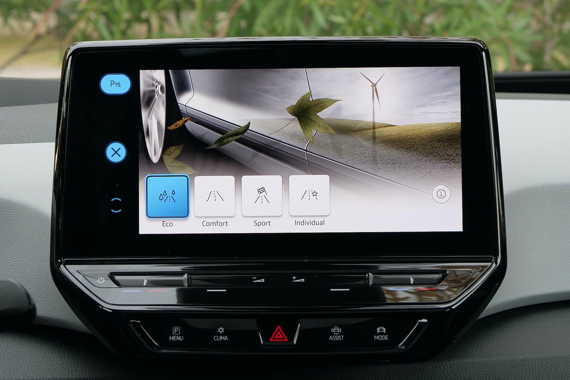 Volkswagen ID3 schermo infotainment