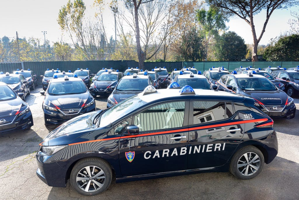 Nissan Leaf si unisce all'Arma dei Carabinieri per la tutela dei Parchi Nazionali