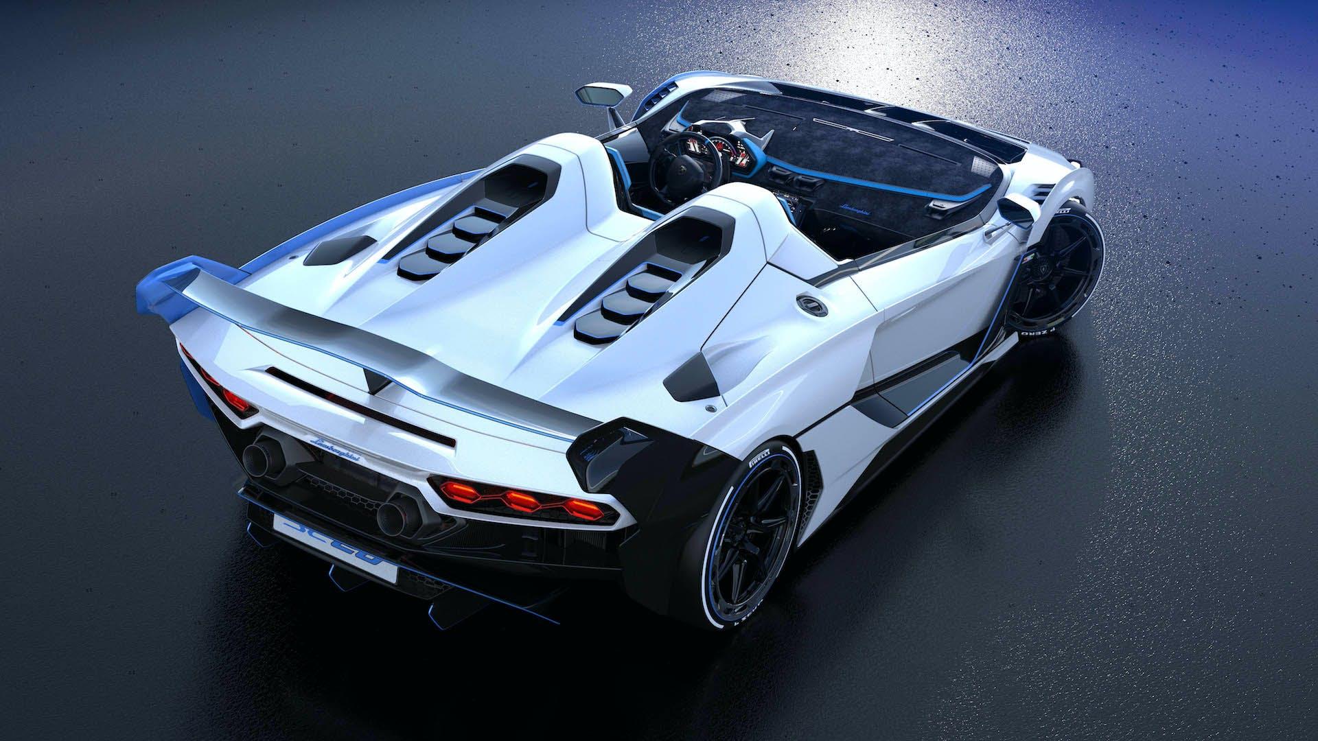 Lamborghini SC20 vista posteriore dall'alto