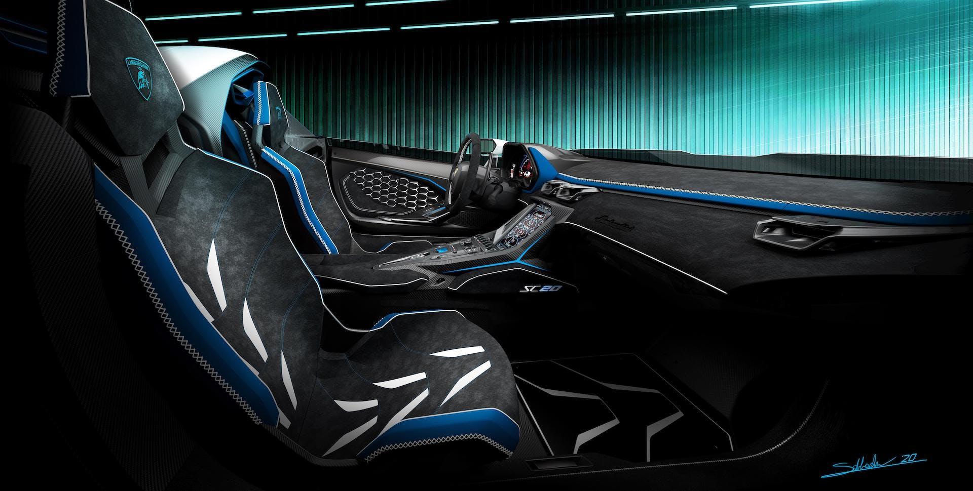 Lamborghini SC20 abitacolo