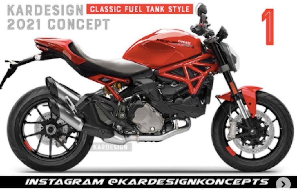 Nuova Ducati Monster 2021, ecco come sarebbe stata col traliccio