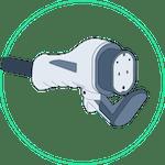 auto elettrica - connettore colonnina tipo 3