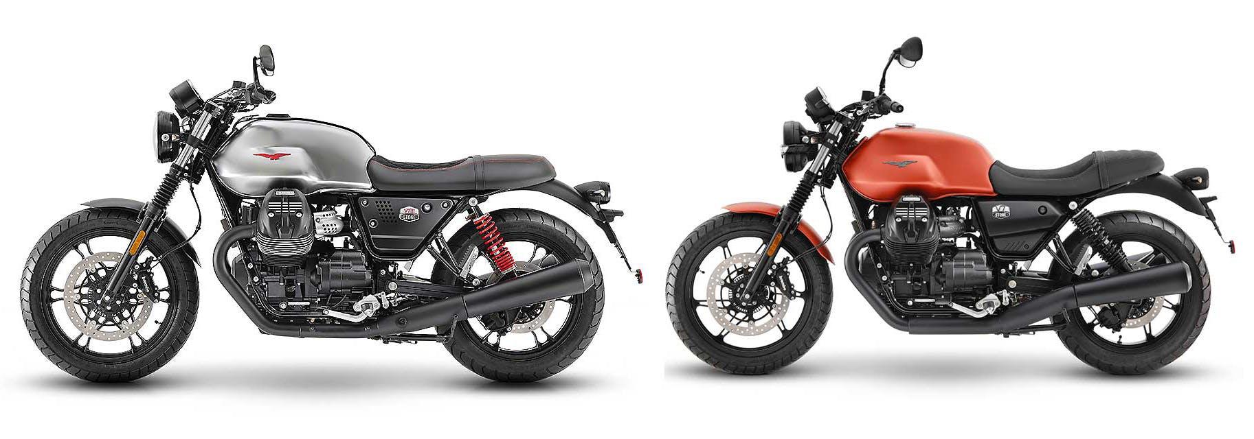Moto Guzzi V7 2021 confronto con vecchia V7
