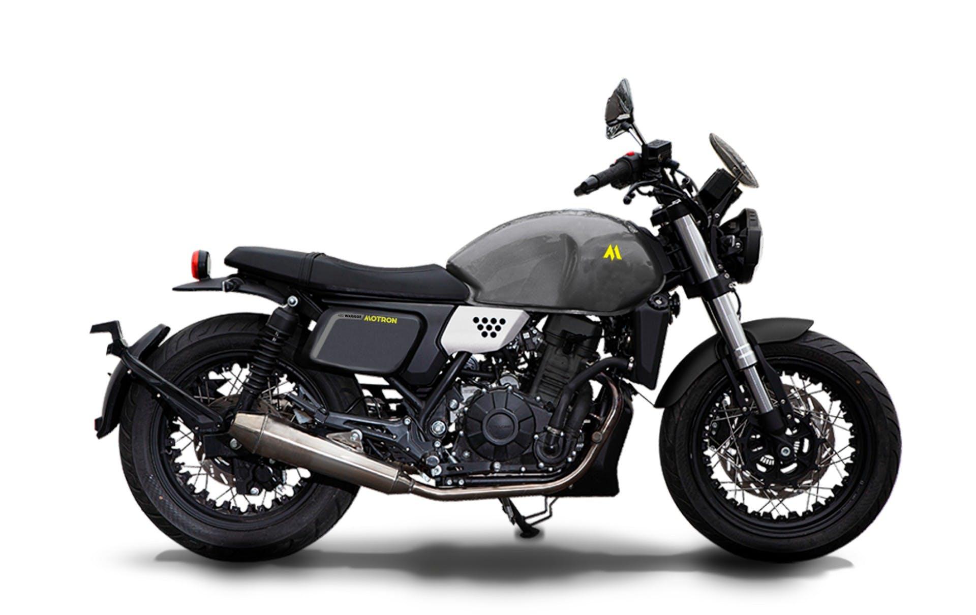 motron motorcycles moto warrior 400 grigia vista laterale in studio