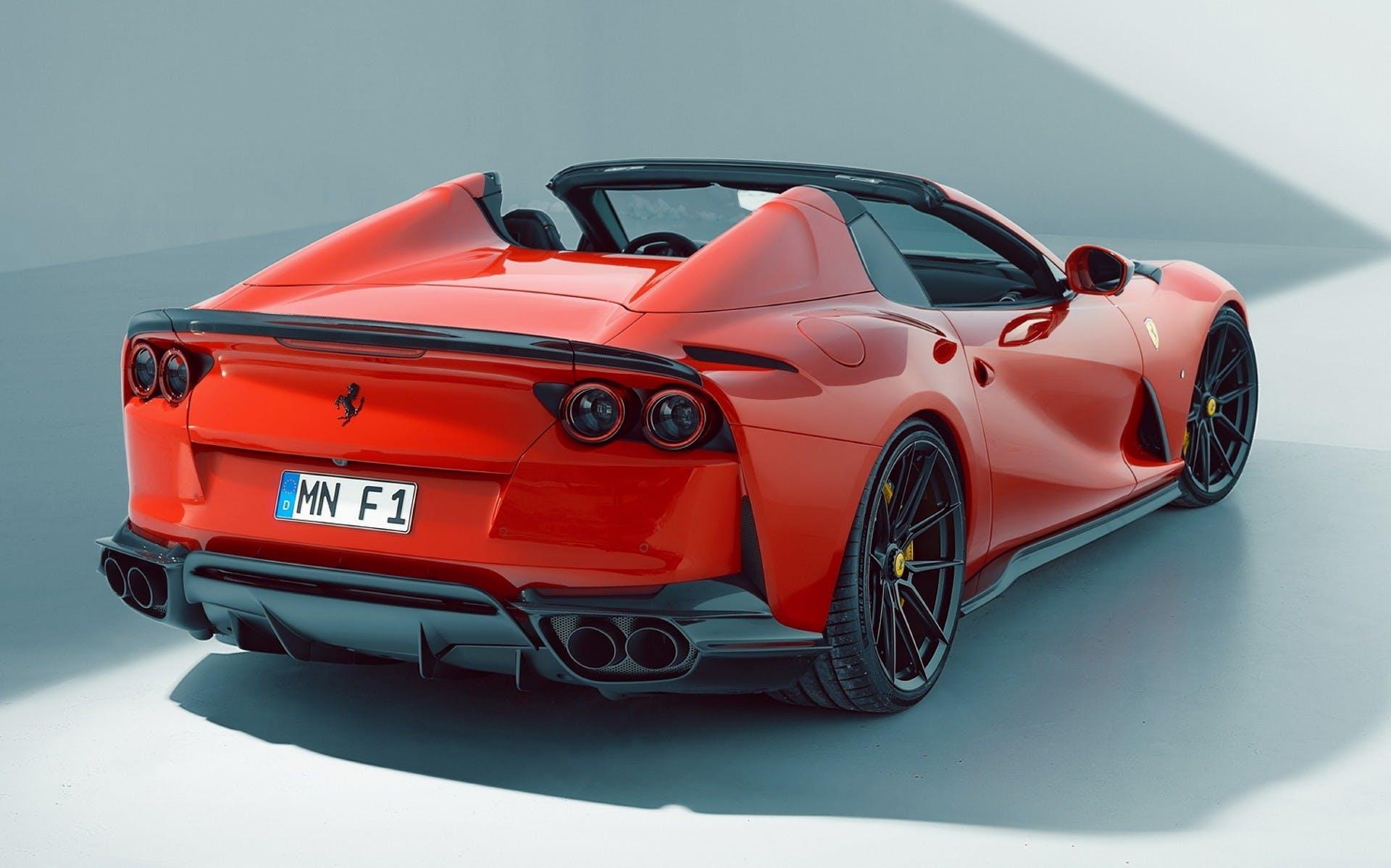 Ferrari 812 GTS by Novitec, vista tre quarti posteriore in studio