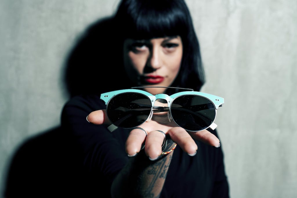 Vibrazioni Art Design occhiali materiale riciclato