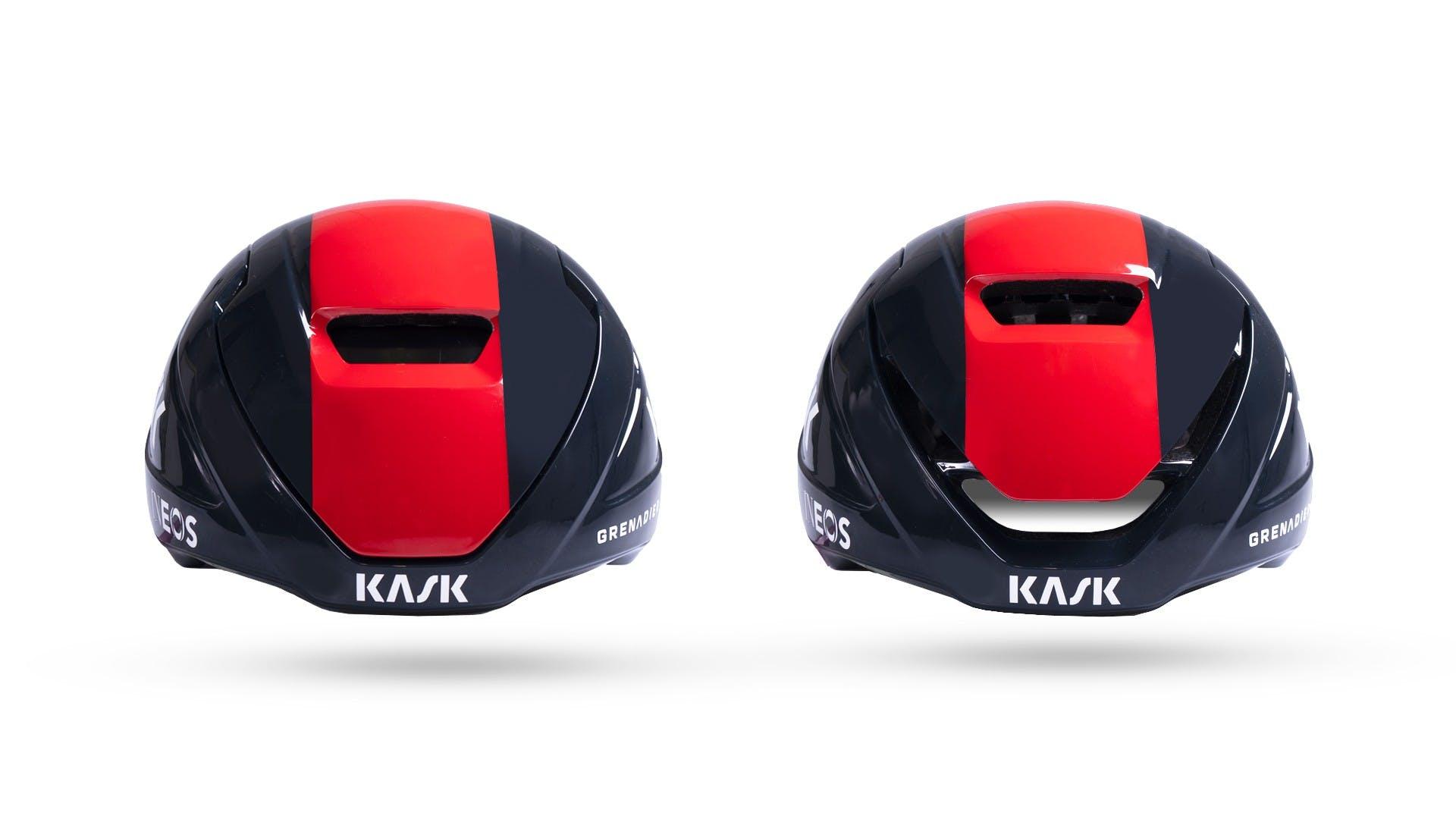 casco Kask Wasabi con flusso aria regolabile, particolare sistema di regolazione