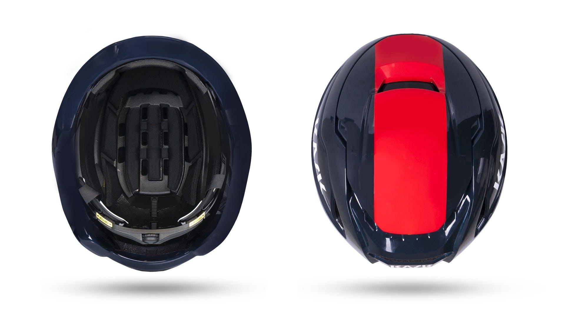 casco Kask Wasabi con flusso aria regolabile, particolare interni