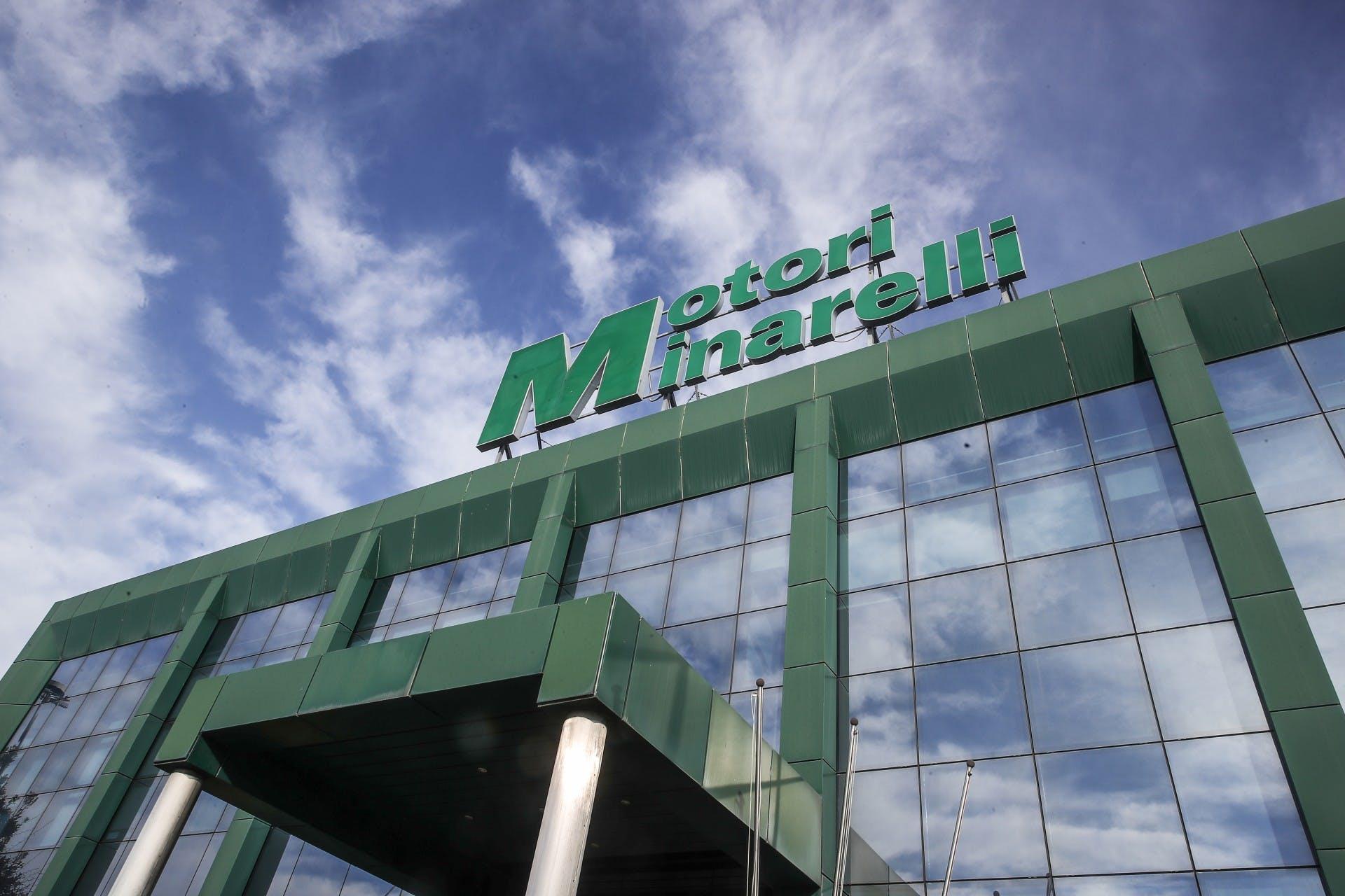 facciata dello stabilimento Minarelli con insegna