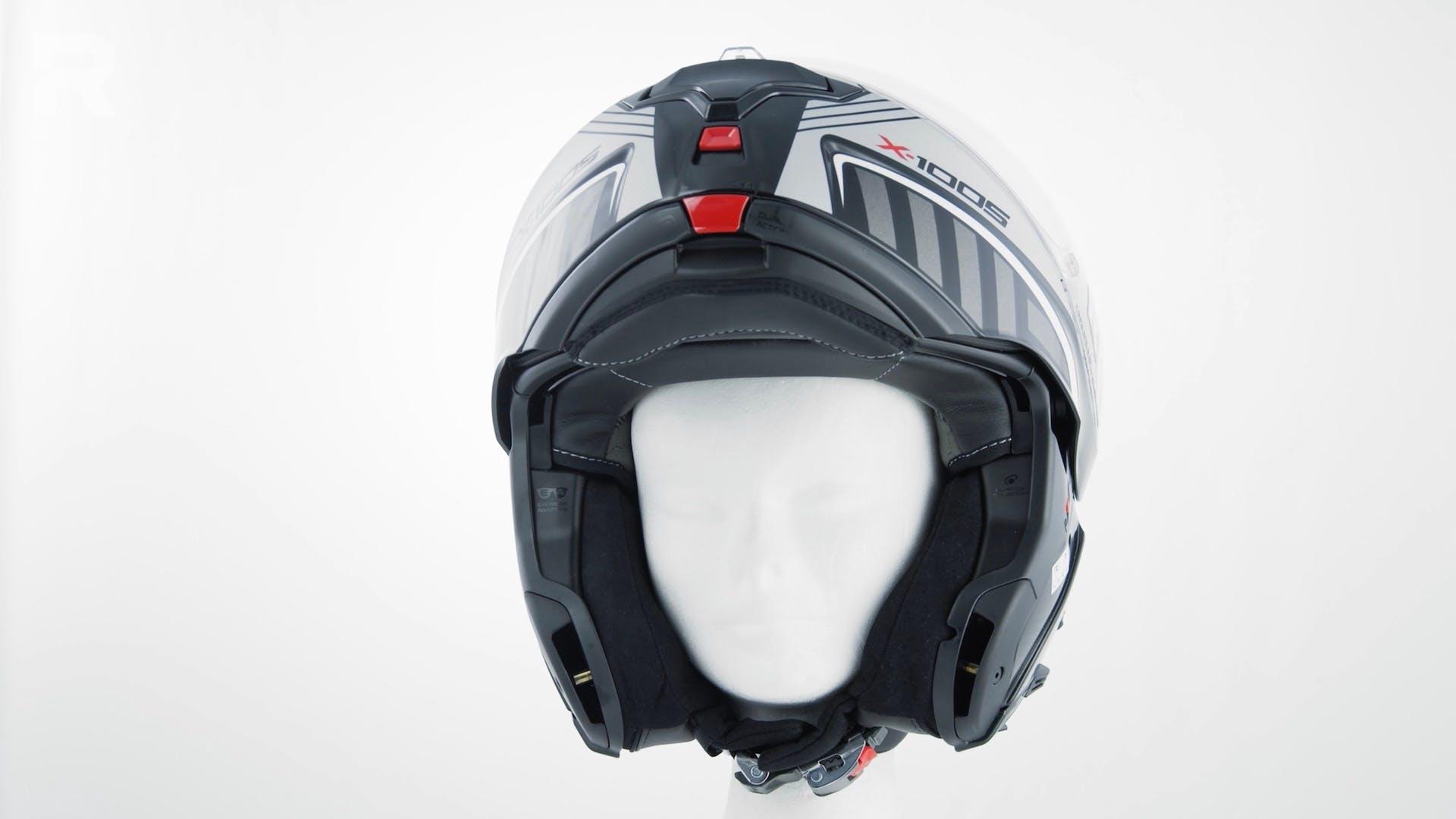 "X-Lite X-1005 Ultra Carbon - guanciali con funzione ""eyewear adaptive"""