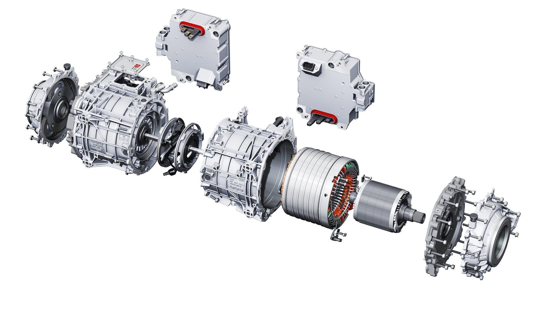 Esploso del motore elettrico di Audi e-tron S.