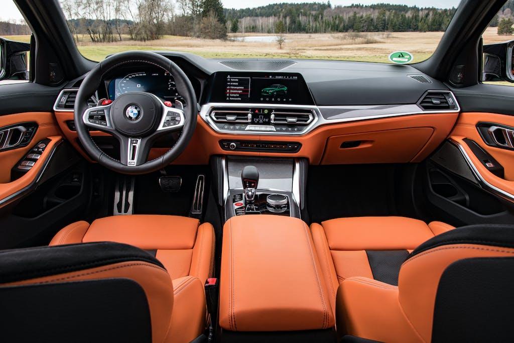 nuova BMW M3 test pista