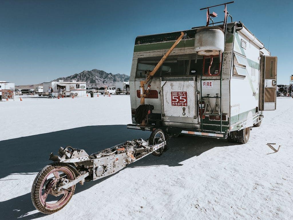 Bonneville Speed Week deserto salato van