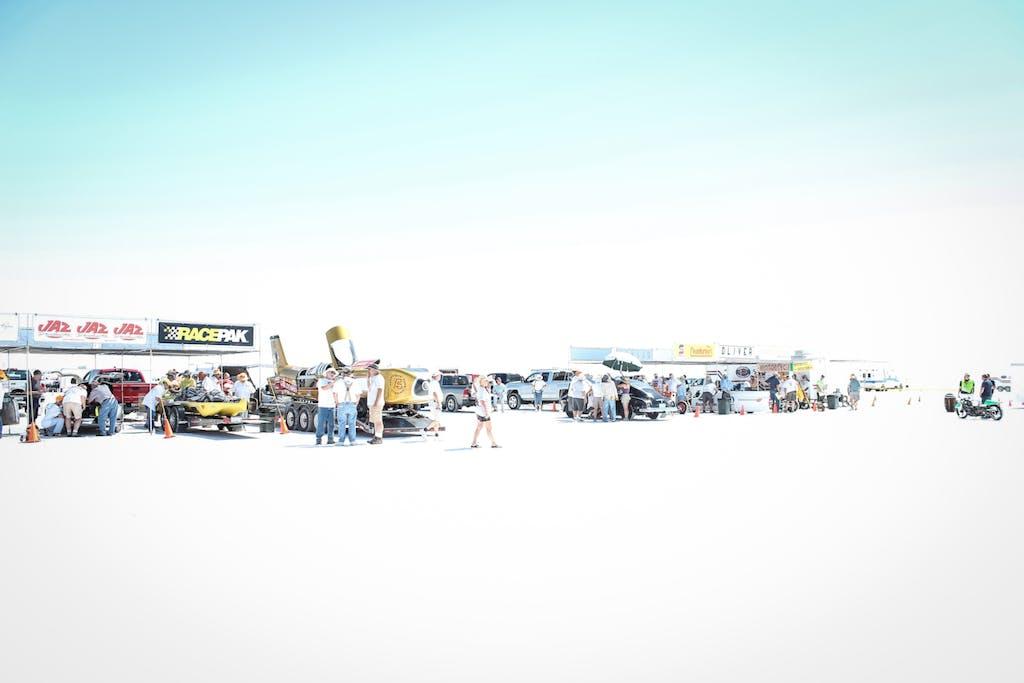 Bonneville Speed Week deserto salato verifiche auto moto streamliner