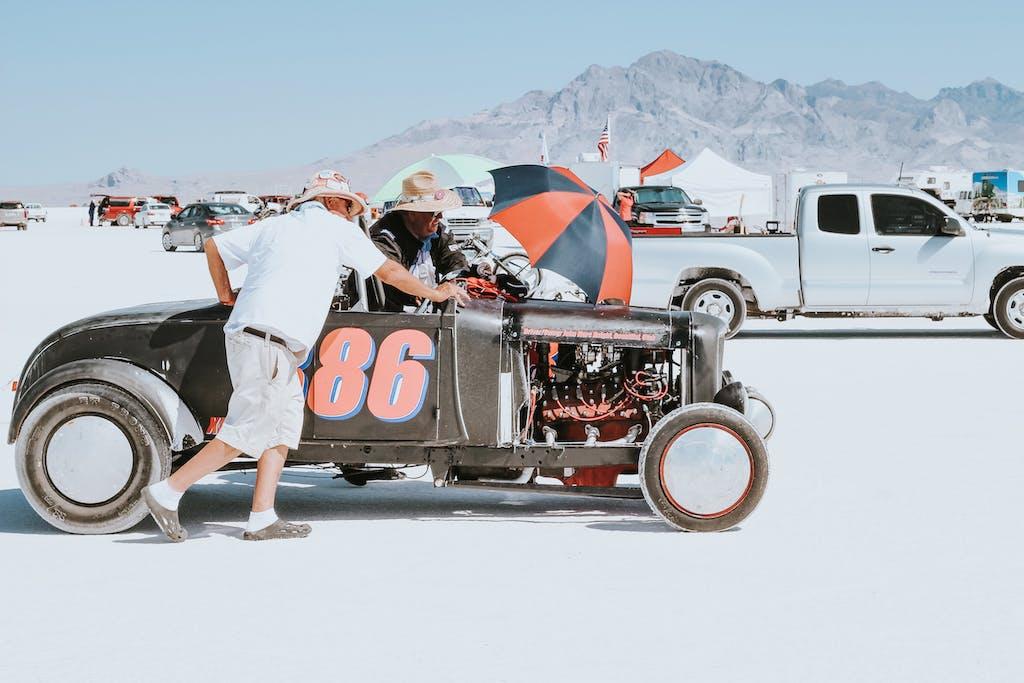 Bonneville Speed Week deserto salato hot rod