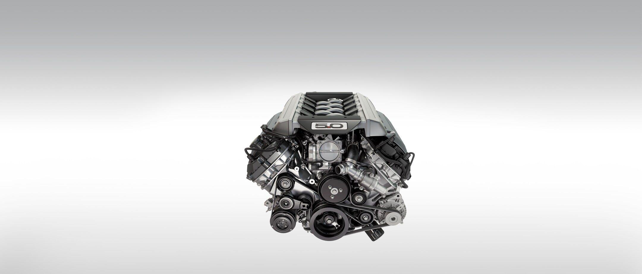Modello 3D del motore V8 5 litri della Ford Mustang Mach 1, in edizione limitata 2021