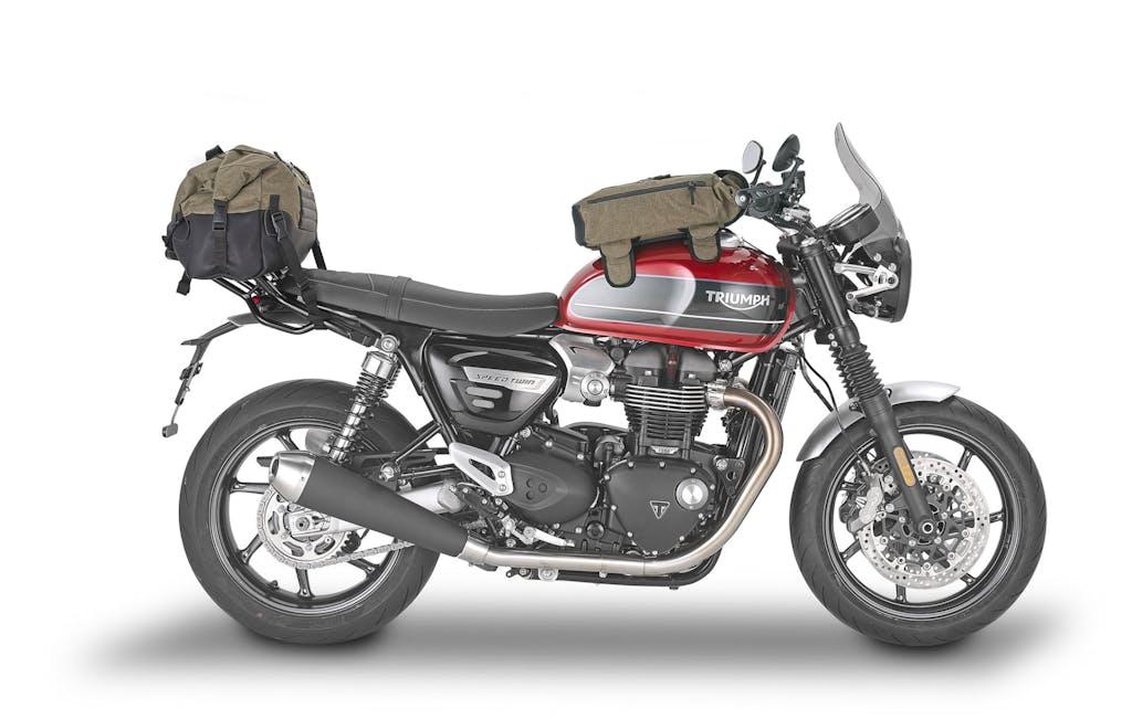 """Triumph Speed Twin, borse e accessori """"a tutto stile"""" by Kappa"""