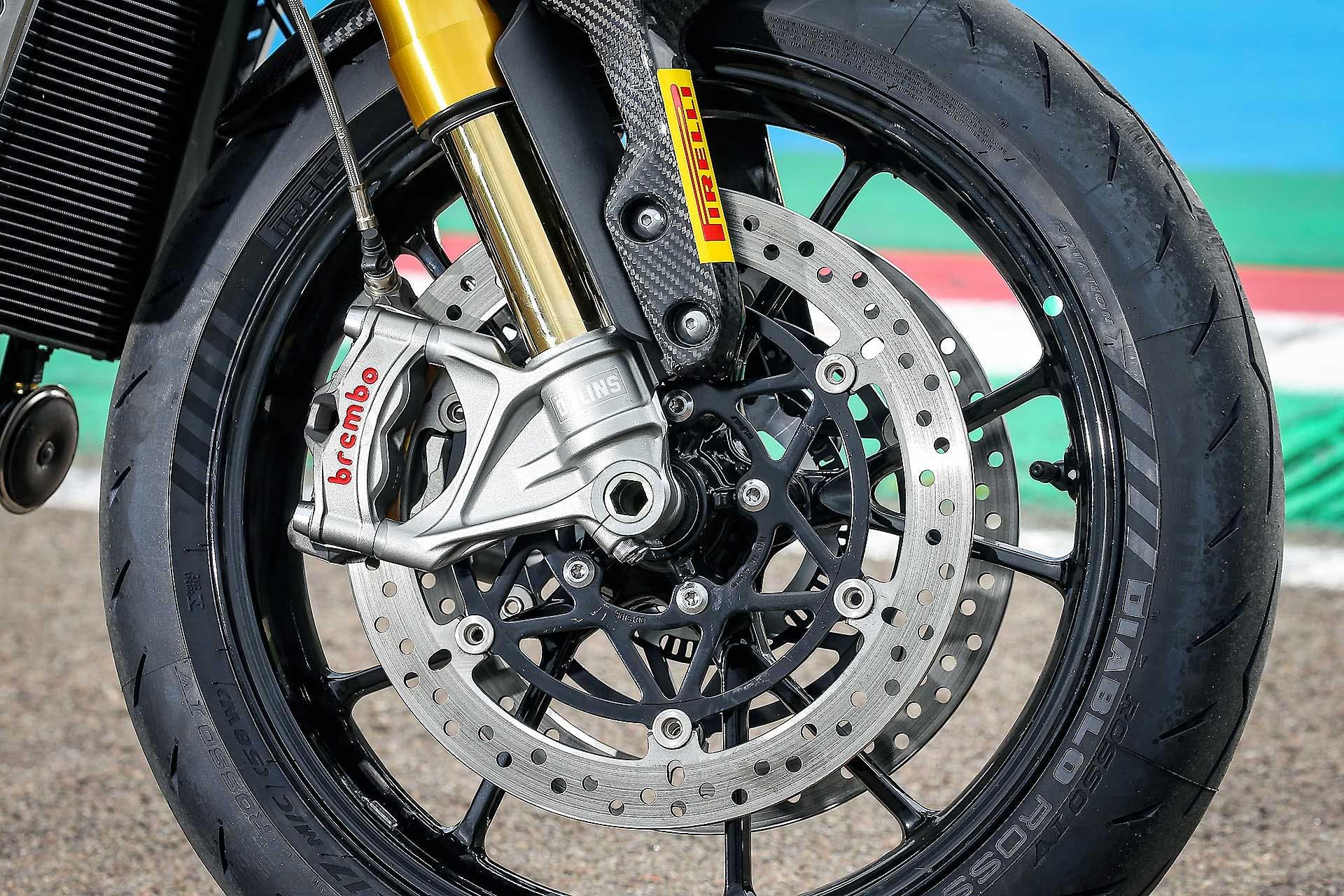 Triumph Street Triple 1200 RS Disco Freno Brembo e forcella Ohlins