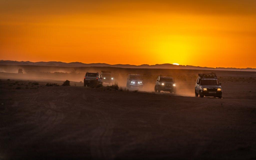 Panda Raid Fiat Panda 4x4 rally deserto gara tramonto