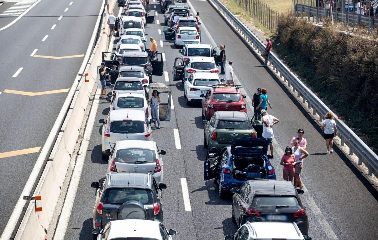 incolonnamento in autostrada