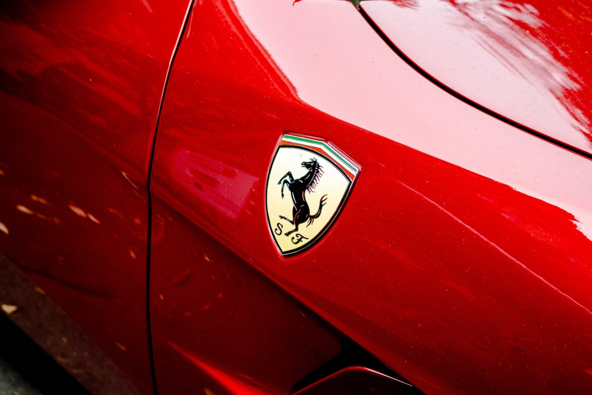 Particolare logo Ferrari