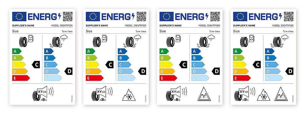 etichettatura europea pneumatici