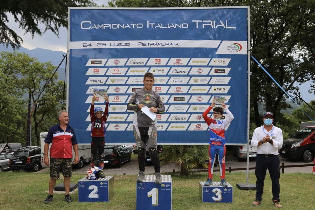 Michele Oberburger trial podio moto campionato gara