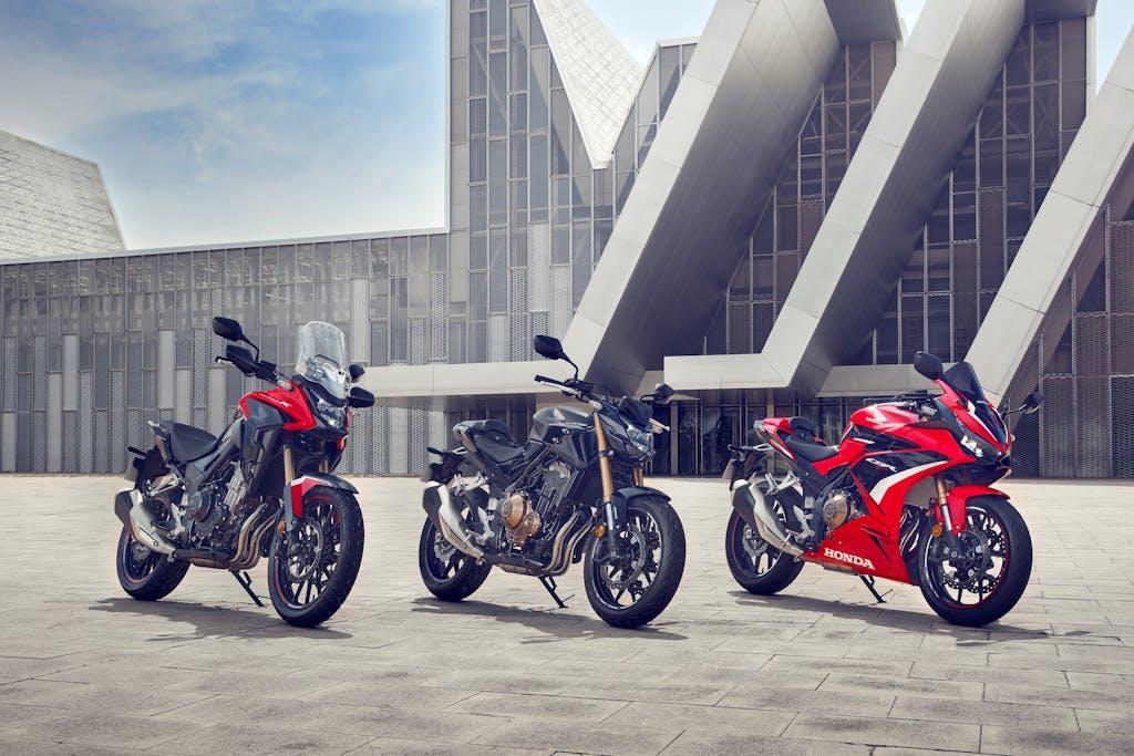Nuove Honda CB500F, CBR500R e CB500X 2022, tanti affinamenti