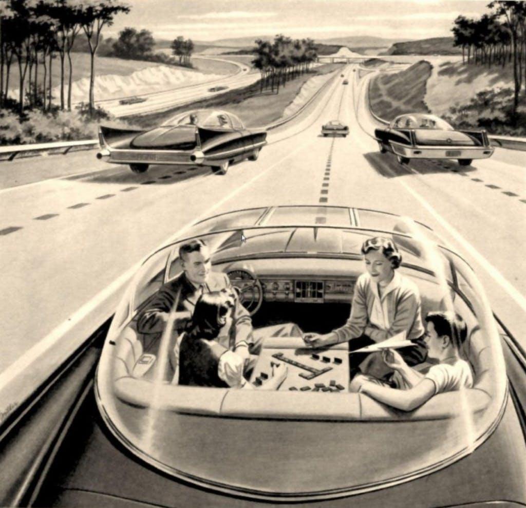 auto a guida autonoma futuro strada passeggeri