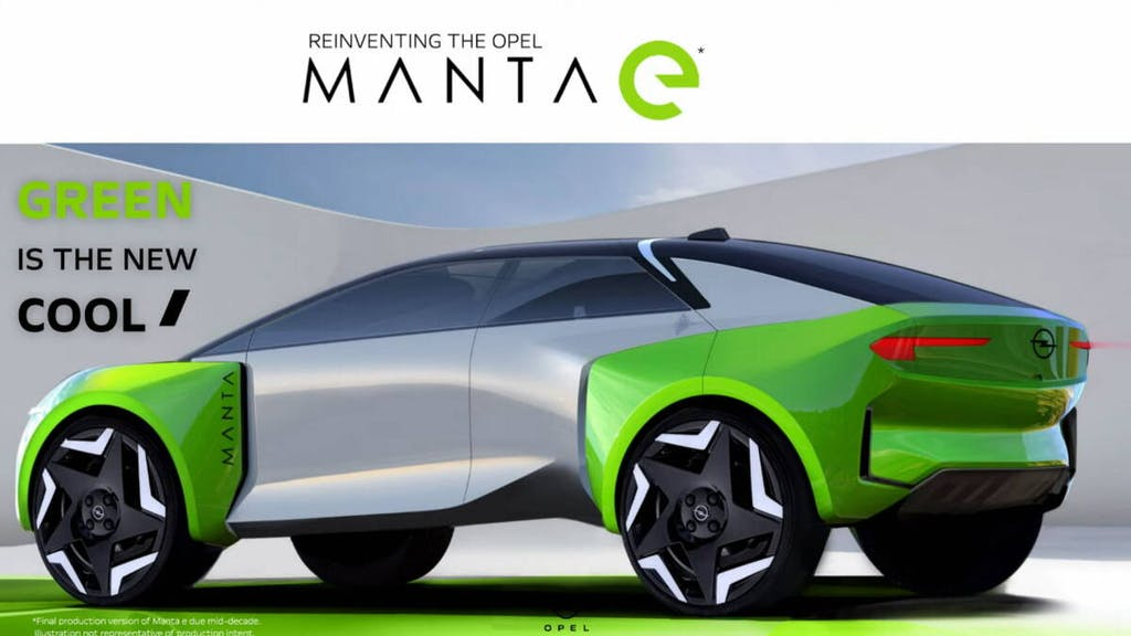 Sketch Opel Manta e - suv elettrico