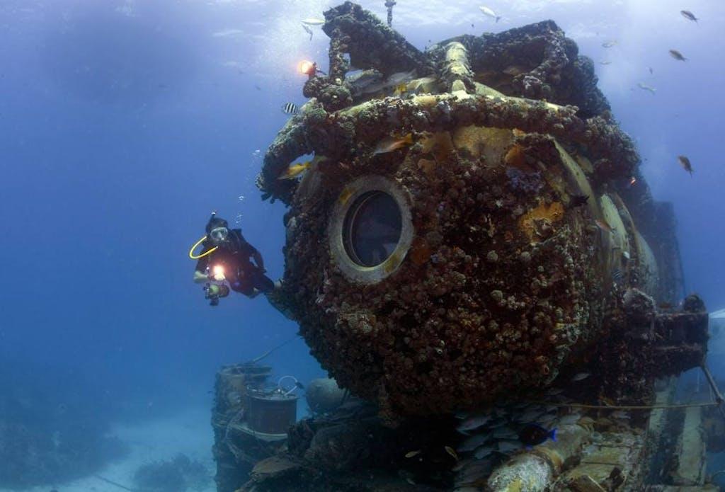 laboratorio subacqueo Aquarius oceano